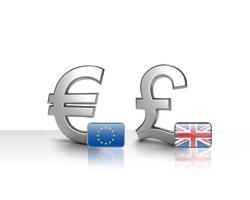 اليورو يتراجع أمام الجنيه الاسترليني