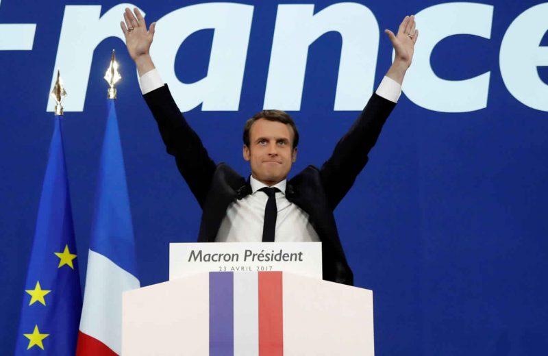 ماكرون يتعهد بتوحيد فرنسا وتعزيز الاتحاد الأوروبي اثر فوزه في الانتخابات