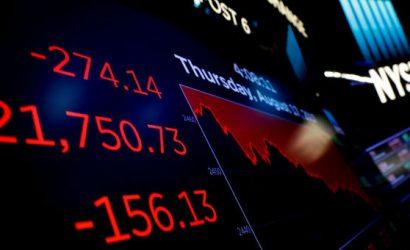 داوجونز يفقد 550 نقطة بعد أن أرسل سوق السندات تحذيرا من الركود