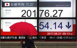 الأسهم اليابانية تغلق منخفضة بسبب هبوط القطاع المالي