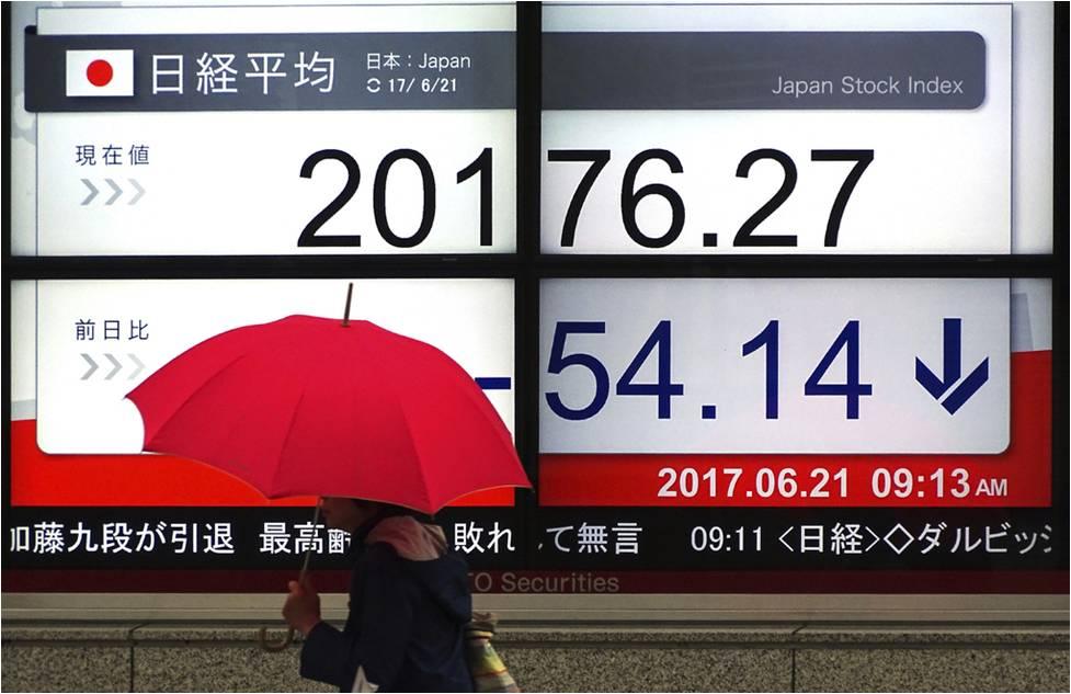 الأسهم اليابانية تغلق منخفضة مع استمرار ارتفاع عائد السندات الأمريكية