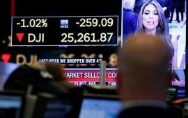 داوجونز يفقد نحو 320 نقطة بسبب ارتفاع عوائد السندات الأمريكية