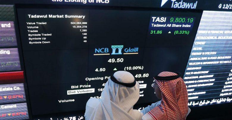 مؤشر الأسهم السعودية يسجل ارتفاعا قويا فوق 8000 نقطة بقيادة البنوك