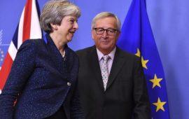 رئيسة الوزراء البريطانية تلتقي مع رئيس المفوضية الأوروبية لمناقشة البريكست