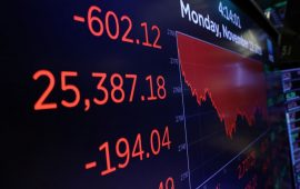 داوجونز يفقد أكثر من 150 نقطة وسط مخاوف من أن يؤدي ارتفاع النفط إلى تباطؤ الاقتصاد العالمي