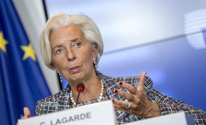 البنك المركزي الأوروبي يبقي سعر الفائدة الرئيسي على الودائع عند -0.5 ٪